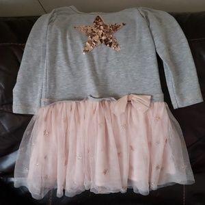 3/4 sleeve dress with stars